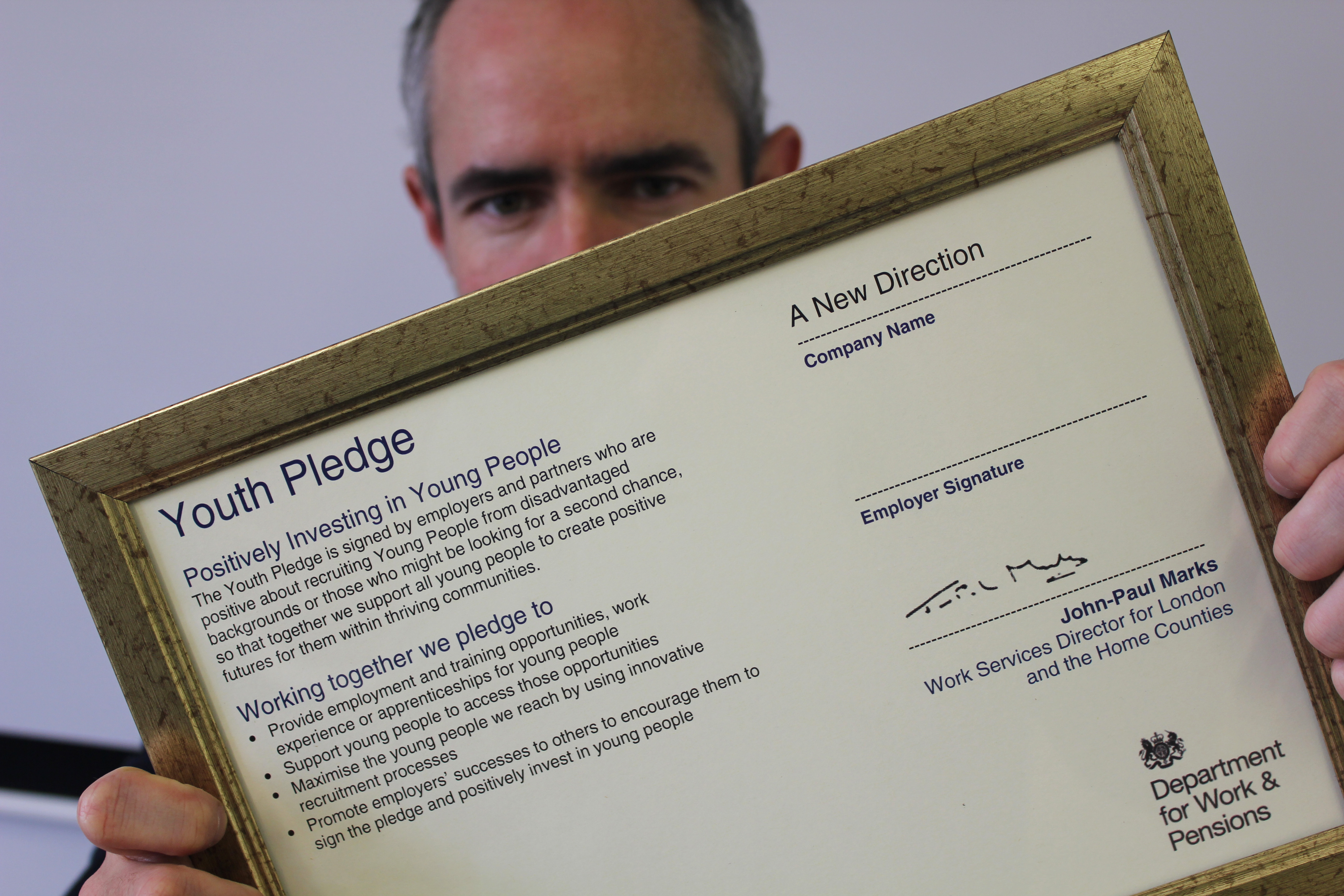 A New Direction signs up for Youth Pledge | A New Direction